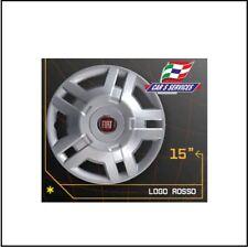 COPRICERCHI COPPA RUOTA 15 POLLICI FIAT DUCATO DAL 2006 AL 2009 LOGO ROSSO