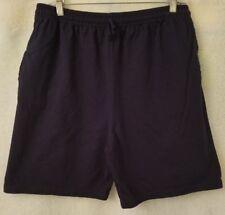 Fruit of the Loom Mens Blue Elastic Waist Lounge Wear Shorts Size L