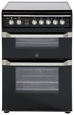 Indesit ID60C2KS 60cm Wide Double Oven Electric Cooker with Ceramic Hob - Black