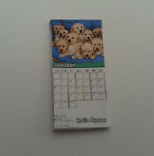 1/12 Scale - 12 paged Dogs Calender for dollshouse