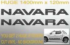 NAVARA D40 D22 NP300 4x4 turbo diesel door panel Stickers PAIR HUGE 1400mm