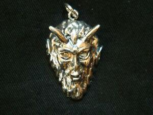 925 Sterling Silver PAN/HORNED GOD PENDANT /Pagan/Wicca/Witch/Horned God/Goth