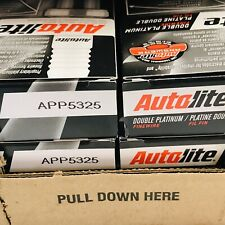 LOT OF 12 PACK OF 4 AUTOLITE APP5325 DOUBLE PLATINUM SPARK PLUG