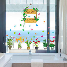 Garden Flowerpot Plant Room Home Decor Removable Wall Stickers Decals Decoration