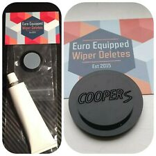 Cooper S engraved Wiper Delete KIT Bung Dewiper Blank Mini R50 R53 Jcw GP 02-06
