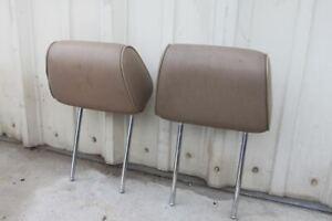 BMW E30 325 325i 325is 325ix 318i  Seat Head Rest Headrest pair tan leather
