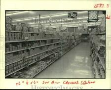 1979 Press Photo Crowded Shelves in Krogers' Supermarket - hcx22467