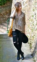 NEW Zara LEOPARD ANIMAL PRINT LOOSE BLOUSE TOP SHIRT Size XS S L- SOLD-OUT