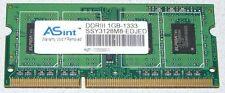 1 GB DDR3-RAM 1333MHz ASint Notebook Arbeitsspeicher