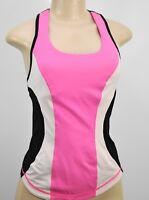 Lululemon 4 Cardio Kick Tank Pinkelicious Parfait Pink Black gym run top