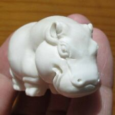 42mm  White Hippo  Carving Animal