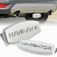 "Bully Stainless Steel Hitch Cover 2""/1.25"" Trailer Tow Receiver NAVIGATOR LOGO"