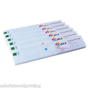 4pcs/4 colors Calca Compatible 440ml Roland ECO-Sol Max Ink Cartridge