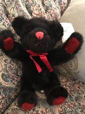"""New 11"""" RUSSPLUS Russ Black Red Spotted Teddy Bear Polkadot Plush Stuffed #D4"""