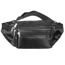 Unisex Bum Bag Waist Belt Money Pouch Fanny Pack Cycling Travel Outdoor Black