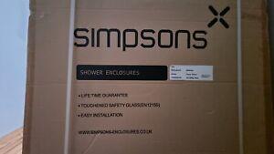 Simpsons Shower Enclosure Side Panel Screen..Reduced Bargain buy!