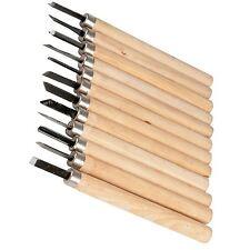 12Pc herramienta de cincel de tallado de mano de madera manejada Arcilla Madera Hobby 535601