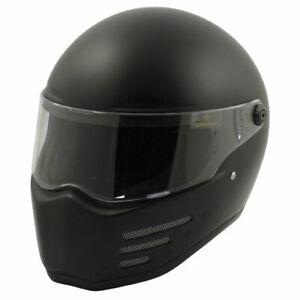 Bandit Fighter Black / Matt Black Motorcycle Motorbike Helmet