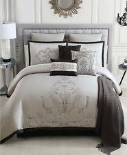Hallmart Collectibles 14 Piece King Comforter Set Eminence 200 Tc Grey B98248
