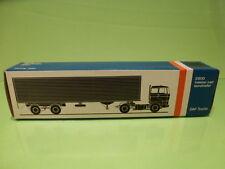 LION CAR 59 DAF TRUCKS 2800 EUROTRAILER - 1:50 GOOD * ONLY EMPTY BOX * (26)