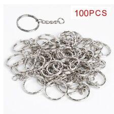 100pcs Wholesale DIY 25mm Keyring Keychain Split Ring Short Chain Key Rings