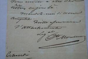 Lettre Général MONTHYON aide camp Napoléon 1er Mme DESBASSAYNS île de la REUNION