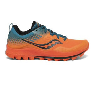 Saucony Mens Peregrine ST Trail Running Shoes Trainers Sneakers Blue Orange