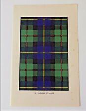 MacLeod of Harris Tartan Vintage Print c1950s