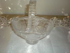 VINTAGE ROSE  FROSTED GLASS BASKET