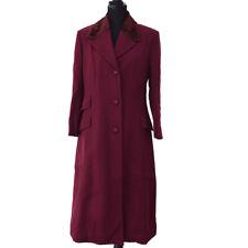 Authentic VERSACE Vintage Logos Long Sleeve Coat Jacket Bordeaux Wool NR11627