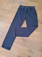 "PEPE, W34"", L33"",Dark Blue Straight Denim Corduroy Jeans, Rise 12"" Hem 16"" vgc"
