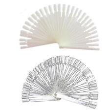 Hot Nail Art False Tips Sticks Practice Display Fan Colour Swatch Design Tool FI