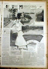 1899 COLOR newspaper magazine w POSTER DISPLAY Summer resorts of NEW YORK & NJ