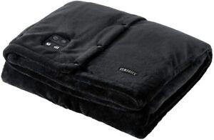 🔥 Homedics Electric Heated Throw with Heat Vibration Fleece Washable Faux Fur
