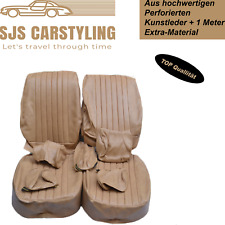 Seat Covers (Front Seat) For Mercedes Sl R / W107,SLC Camel/Dattel up to Year 84
