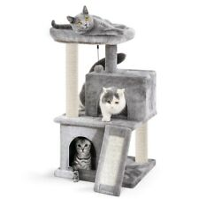 Cat Tree Scratching Sisal Post Scratcher Activity Centre With 2 Condo House AU!!