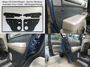 Nissan GU PATROL Electric Window Wagon Waterproof, Rugged ABS Door Panels Black