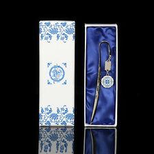Elegant Metal Bookmarks With Tassel Vase Dragon Phoenix Lotus Flowers Patterns