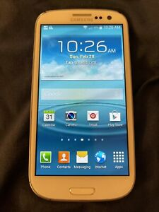 Sprint Samsung Galaxy S3 SIII SPH-L710 4.8'' White -Free Ship unkn esn- Bad chrg