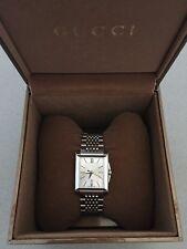 Gucci G-Timeless Rectangular Silver Women Watch Swiss Made Model YA138502