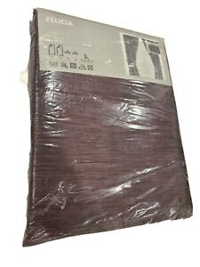 "IKEA Felicia Dark Purple Amethyst 57"" x 118"" Pair of Curtain Panels NEW SEALED"