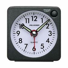 Peakeep Ultra Small, Battery Travel Alarm Clock With Snooze And Light, Silent Wi
