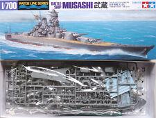Tamiya 31114 1/700 Waterline Model Kit WWII Japanese IJN Battleship Musashi