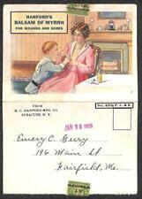 USA SYRACUSE NEW YORK PRECANCEL STAMP MYRRH MEDICAL ADVERTISING POSTCARD 1929