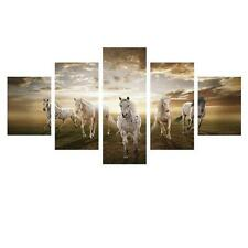 Horse Wall Art Canvas Picture Decor 5 Piece Large Painting Western Home New