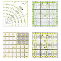 Hand Art Quilting Sewing Needle Patchwork Ruler Cutting Tool Tailor Craft AU