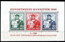 GERMANY - 1949 HANOVER TRADE FAIR BLOCK - MINT NEVER HINGED**