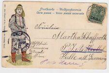 CHINA TONGKU 1902 German Post Cover Postcard to Halle Germany
