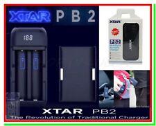 Caricabatterie XTAR PB2 USB x Litio Li-ion Lithium 18650 + Funzione Powerbank
