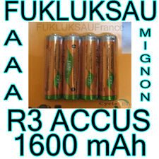 8 x PILES AAA | PILES ACCUS RECHARGEABLE MIGNON 1600mAh Ni-MH 1,2V R3 LR03 NEW